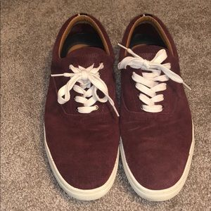 Maroon Suede Tommy Hilfiger Shoes